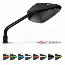 BARRACUDA A-VERSION MIRRORS BLACK