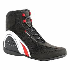 MOTORSHOE D-WP SHOES JB BLACK/WHITE/RED DAINESE