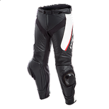 DELTA 3 LEATHER PANTS BLK/WHITE/RED