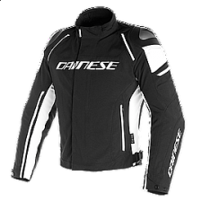 RACING 3 D-DRY JACKET BLK/BLK/WHITE