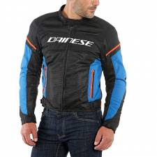 AIR FRAME D1 JACKET BLK/LIGHT-BLUE/FLUO-RED DAINESE