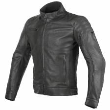 BRYAN LEATHER JACKET BLACK DAINESE