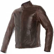 MIKE LEATHER JACKET DARK BROWN