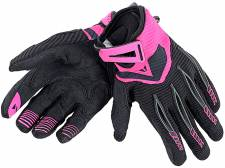 PADDOCK LADY GLOVES BLACK/FUCHISIA DAINESE